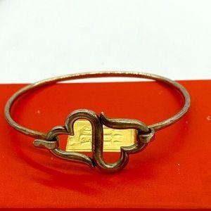 James Avery 925 sterling double heart bracelet